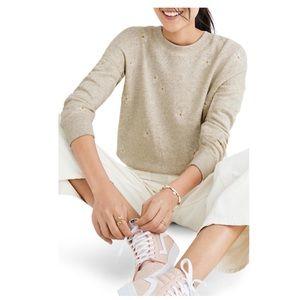 NWT Madewell mile(s) Embroidered Daisy Sweatshirt